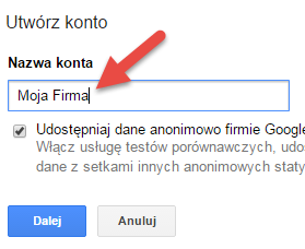 google tag manager nazwa konta
