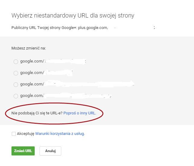 vanity url google