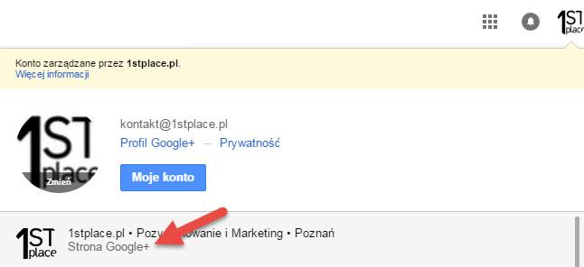 strona google plus instrukcja przełączania konta