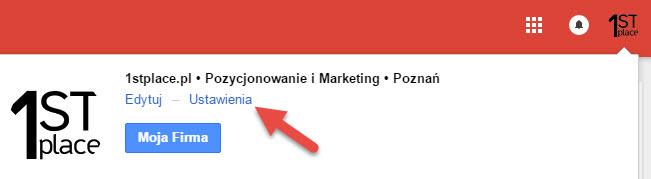ustawienia strony google plus 1stplace.pl