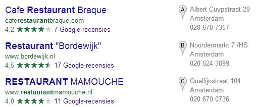 zielone gwiazdki w wynikach wyszukiwania 1stplace.pl