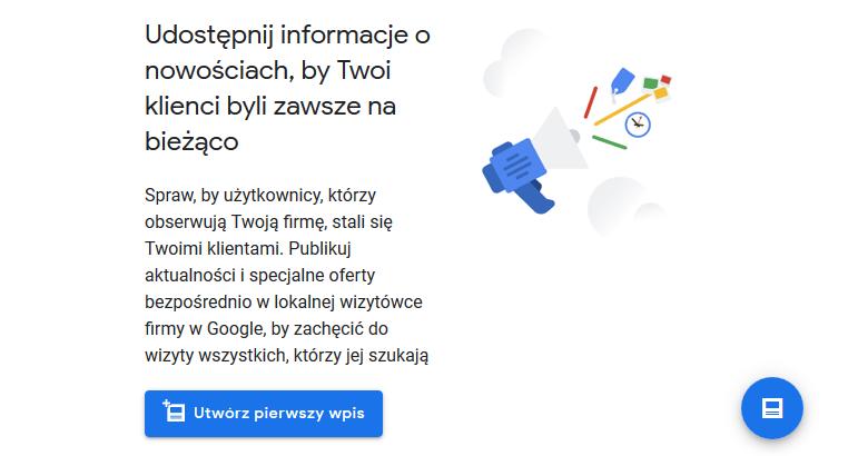 Publikacja wpisów w Google Moja Firma